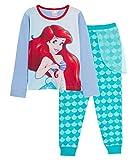 Disney Pyjama pour fille La Petite Sirène Princesse Ariel avec pantalon à paillettes - - 7-8 ans
