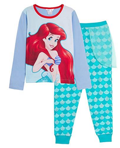 Disney Pyjama Ariel pour fille La Petite Sirène avec pantalon à paillettes, lilas, 3-4 ans