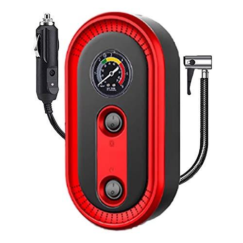 Mini Bomba Compresor Inflador De Aire Batería Digital Inteligente - Compresor Bomba Inflador Electrico Suelo Bicicleta Manometro, Bomba Eléctrica Inflador Infladora De Neumático Aire Patinete