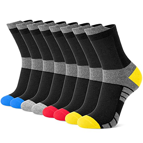 Newdora Socken Herren, 8 Paar Sneaker Socken Unisex Atmungsaktiv Baumwoll Socken für Sport Freizeit Lauf Outdoor Business Arbeits, 43-46