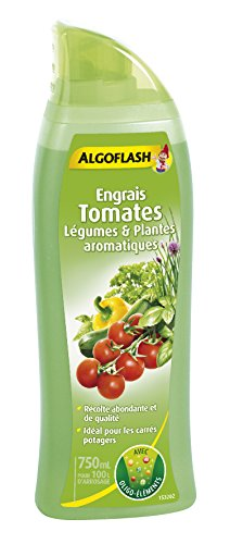 ALGOFLASH Engrais Tomates et Légumes, Jusqu'à 100 L, Bouchon doseur inclus, 750 ml, ALIPOT750