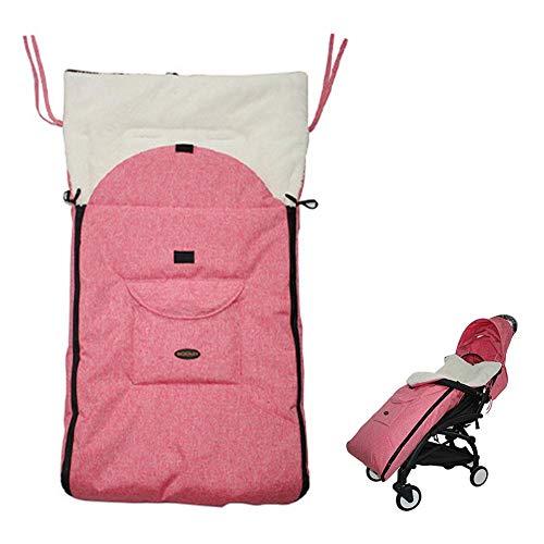 Saco de dormir de invierno de peluche, saco de dormir para cochecito, universal, impermeable, cortavientos, cómodo saco (bebés de más de 12 meses)