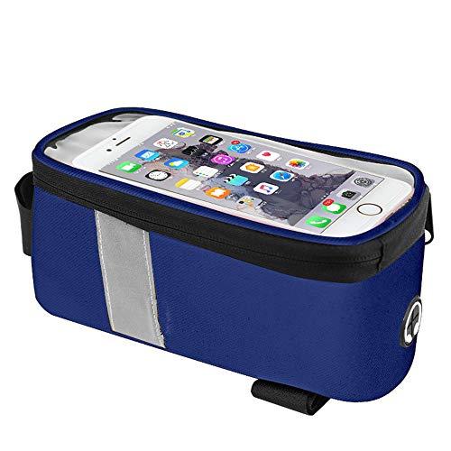 Jtoony Bike Bag 5.7-inch Fiets Mobiele Telefoon Tas Waterdichte Stuur Fiets Gevoelige Mobiele Telefoon Beugel Tas Fiets Frame Tas