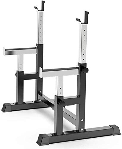 LSJI Gantry bracket barbell bench press Bench Press Home Fitness Barbell Weightlifting Bed Multifunctional Squat Protection Commercial Fitness Equipment,Multi Sit Up Workout,Applicable to Gyms and Pri