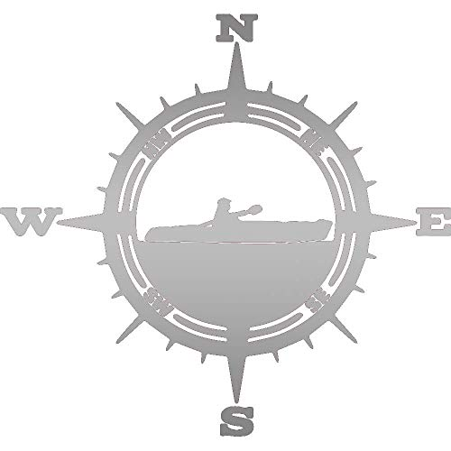 Pegatina Promotion Kompass Kanu Kajak Aufkleber ca.20 cm Oilslick Folie Oil Slick Öl Effekt Autoaufkleber,Wandtattoo, Waschanlagenfest, Profi-Qualität, Decal,Sticker