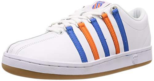 K-Swiss Classic 88 Heritage Tenis para hombre, Blanco (Blanco/Azul Directoiro/Naranja Vibrante), 46 EU