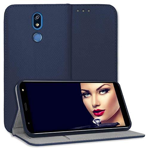 mtb more energy® Schutz-Tasche Bookstyle für LG K40 (LM-X420, 5.7'') - blau - Kunstleder - Klapp-Cover Hülle Wallet Hülle