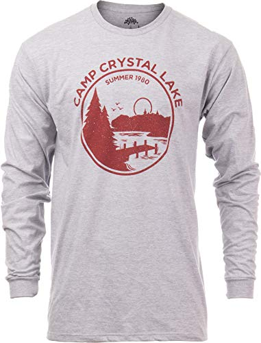 Summer 1980 Camp Crystal Lake Counselor T-shirt, Vintage Gray, S to 3XL