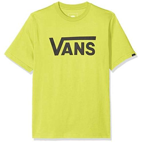 Vans Classic Boys T-Shirt, Giallo (Sulphur Spring/Black Ynd), Medium Bambino