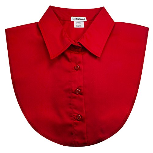 IGotCollared Womens Detachable Collar, Stylish, Comfortable, Dickey False Collar (Red)