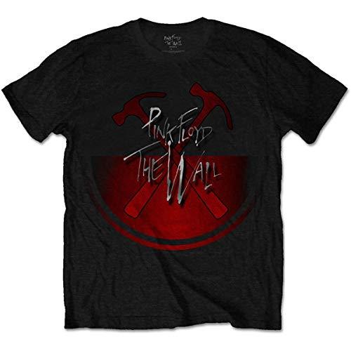 Pink Floyd The Wall Oversized Hammers T-Shirt, Nero (Black Black), Medium Uomo