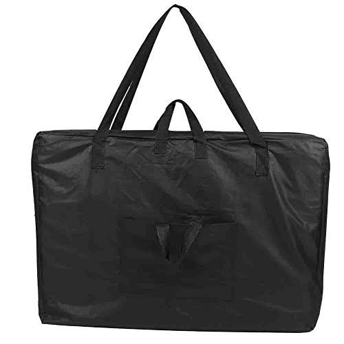 Bolsa de transporte para mesa de masaje, color negro, universal, portátil, para masaje, bolsa de transporte de lona, para accesorios de mesa de spa, 92 x 62 cm