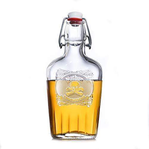 Skull Cross Bones Scotch Whiskey Hip Flask Groomsmen Gift