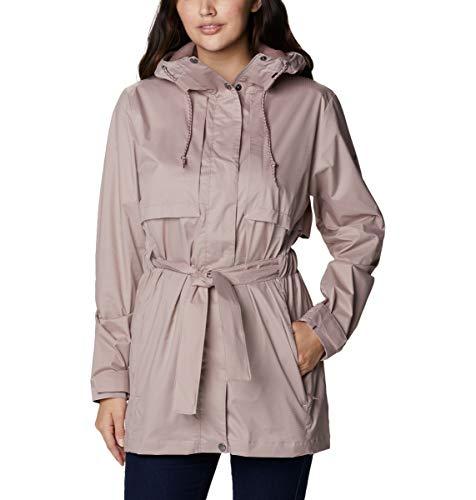 Columbia Women's Pardon My Trench Rain Jacket, Breathable, Lightweight, Mauve Vapor, 2X Plus