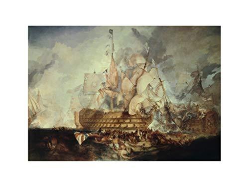 William Turner - Third Coalition War: Battle of Trafalgar 1805 Print 60x80cm