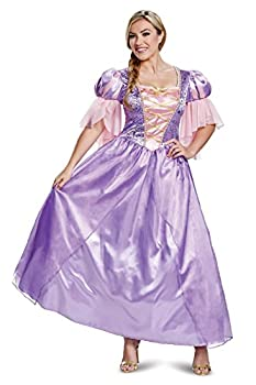 Disguise Women s Rapunzel Deluxe Adult Costume Purple S  4-6