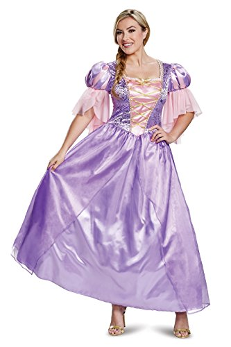 Disguise Women s Rapunzel Deluxe Adult Sized Costumes, Purple, Large 12-14 US