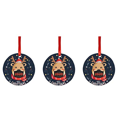 Shirt Luv Decoration & Hangs 3PCS Christmas Ornament Paperboard Christmas Tree Pendant Crafts with Rope B