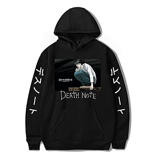 Famesale Death Note Hoodie Yagami Light Cosplay Kostüm Misa Amane L Lawliet Langarm Kapuzenpullover Sweatshirt Jacke Mantel für Männer/Frauen/Jugendliche