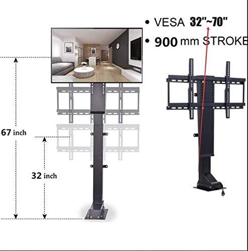 DCHOUSE - Soporte elevador para TV, 900 mm, plasma/LCD, motorizado, para televisión, soporte de elevación de TV, para ahorrar espacio, enchufe británico