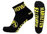 Donegal Bay NCAA Iowa Hawkeyes Men's Quarter Socks, Black