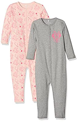 NAME IT Pijama Bebé-para Niñas (Pack de 2)