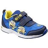 Leomil - Zapatillas Deportivas Infantiles con Cierre Adhesivo y Estampado de los Minions para niños (29 EU) (Azul/Amarillo)