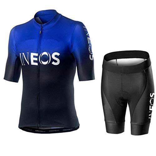 Gnaixyc Conjunto Ropa De Ciclismo, Hombres De Bicicleta con 9D Gel Acolchado MTB Ciclismo Tirantes Culotte Pantalones Cortos Culotes,B3,4XL
