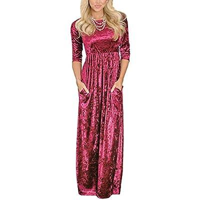 crushed velvet maxi dress