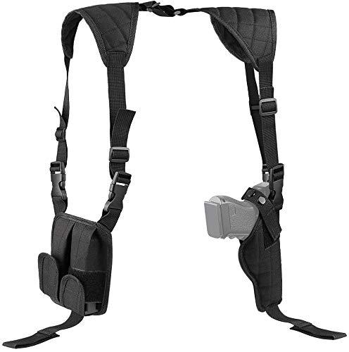 Feyachi Schulterholster Pistolenholster Universal Vertikal Pistolenholster Verstellbar Für Die Meisten Pistolen…