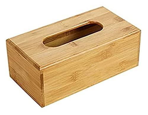 sacfun Tenedor de Tejido de bambú Caja de Almacenamiento Caja de Tejido Cubierta de testamento Coche Servilleta de Madera (Color : 31×30×31cm)