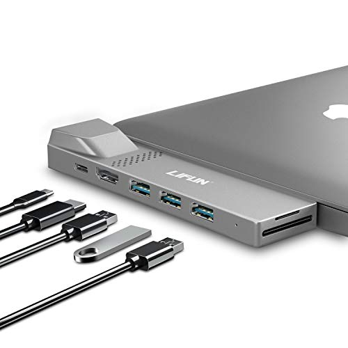 MacBook Pro USB C Hub, LIFUN 8-in-1 USB C Adapter with 4K HDMI, USB 3.0, 100W PD, Ethernet Port and SD/TF Card Reader, Multiport Dongle for MacBook Air 2020/2019, MacBook Pro 2020/2019/2018/2017
