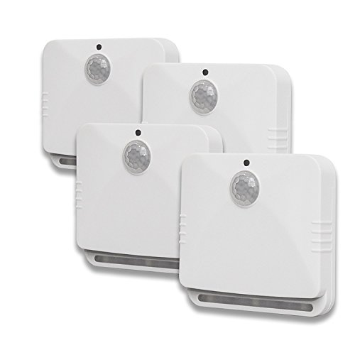 As Seen On TV Sensor Brite Motion Activated LED Lights (4), 4-Pack, White