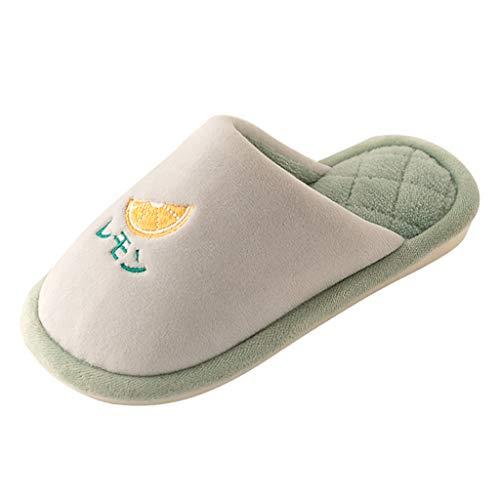 TOPKEAL Zapatillas de Algodón Cálido de Terciopelo para Niños Unisex Antideslizantes Zapatillas de Dibujos Frutas