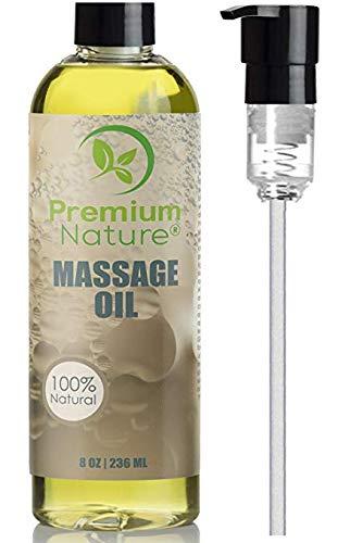 Massage Öl mit Ätherischem Öl - Premium Nature Massageöl Aromatherapie Grapefruit & Zitronengras Hypoallergen Entspannt Muskel & Haut Ohne Fettfilm Hautpflege