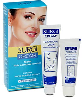 Surgi Hair Removal Cream for Women - Gentle Formula - Face and Sensitive...