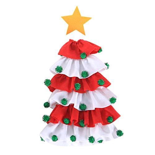 Hemoton Weihnachtsbaum Weinflasche Abdeckung Weinflasche Kleid Weihnachtsbaum Flasche Tasche Abdeckung Tisch Abendessen Dekoration Party Tischdekoration Wein Champagner Bier Flasche Dekor