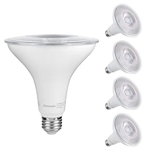 DEWENWILS 4-Pack PAR38 LED Bulb, Dusk to Dawn Photocell Sensor, 1250 Lumen, 5000K Daylight LED Flood Light, 15W(120W Halogen Equivalent) Outdoor Security Light Bulb, UL Listed