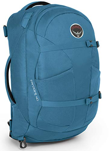 Osprey Packs Farpoint 40 Travel Backpack, Caribbean Blue, Small/Medium
