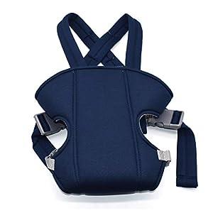 Mochila Portabebés Ergonómica,Xiuyer Múltiples Posiciones Baby Carrier Ajustable Porta Bebé para Recién Nacidos y Bebés(Azul Oscuro, 3.5-15 kg)