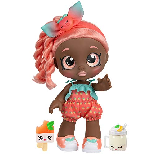 Kindi Kids Snack Time Friends - Pre-School Play Doll, Summer Peaches - for Ages 3+ | Changeable...