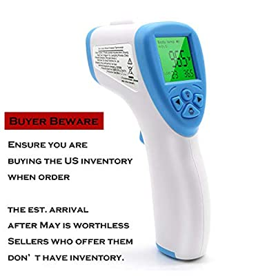 Infrared Digital Forehead Thermometer, Non-Contact Forehead Thermometer with LCD Display, No Touch Accurate Instant Readings for Adults Kids Baby