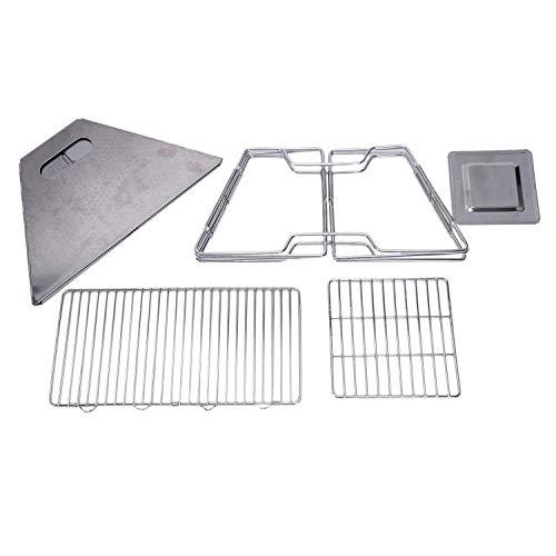 412epFwkAQL. SL500  - Outdoor Grill Grill Rack Folding Edelstahl Tragbare Wohnküche Camping Kochutensilien, Grillzubehör