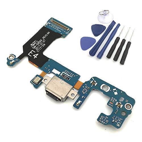 enoaFIX Dock Connector kompatibel mit Samsung Galaxy S8 SM-G950F Ladebuchse, Micro USB, Flexkabel mit Mikrofon und Antenne + Werkzeug-Set