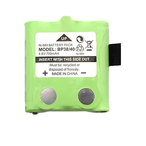 ndegdgswg 4.8v 700mah Ni Mh batería, recargable para Bp-38 Bp-40 Bt-537 Gmr-1558/2ck T8 Interphones 1pc
