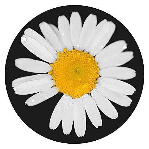 WJW-DT Alfombra Infantil Blanco Negro Amarillo Creatividad Alfombra Habitación de los niños Sala de Estar Dormitorio Área de diseño Alfombras 60cm 80cm 100cm 120cm Diámetro-80cm