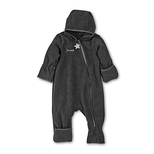 Sterntaler - Baby Overall Jungen Fleece mit Reißverschluss, anthrazit - 5501800, Größe 62