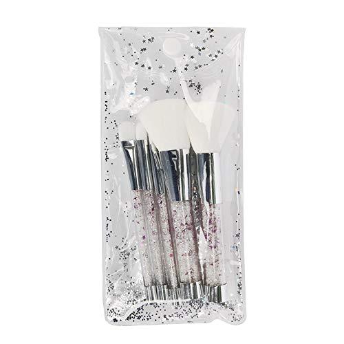 5 Pcs Crystyle Maquillage Pinceaux Ensemble Femmes Fondation Poudre Blush Ombre À Paupières Lèvre Cosmétique Coloré Pour Make Up Outils Brosse à maquillage XXYHYQ (Color : Blanc, Size : Libre)