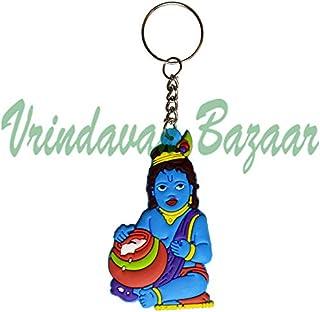 Rubber Keychain with Krishna Design- VRINDAVANBAZAAR.COM
