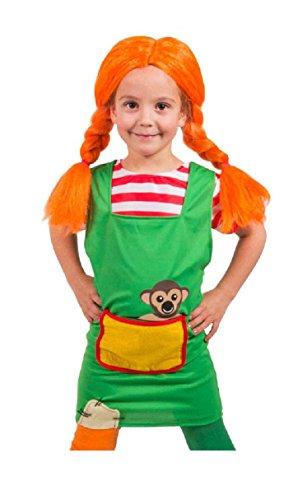 Folat - Petite Robe Rouge Fille A Tresses Taille Enfant S